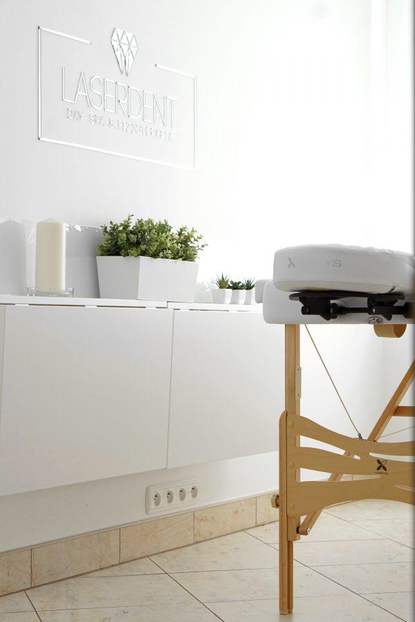Day Spa - stół do masażu Habys - Laserdent - gabinet stomatologiczny - dentysta, stomatolog Opole